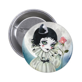 Pierrette Under the Icy Moon Button