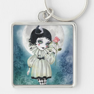 Pierrette Under the Icy Moon Keychain