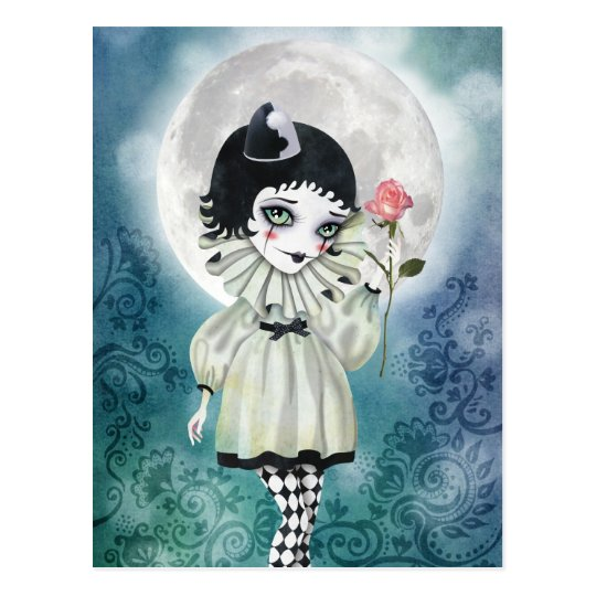 Pierrette Under the Icy Moon Postcards