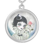 Pierrette Under the Icy Moon Silver Necklace