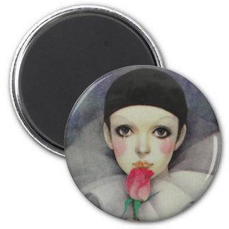 Pierrot 1980s refrigerator magnet