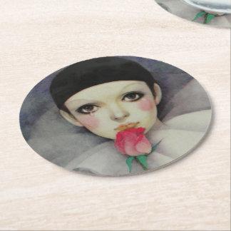 Pierrot 1980s round paper coaster