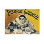 Pierrot Absinthe Postcard