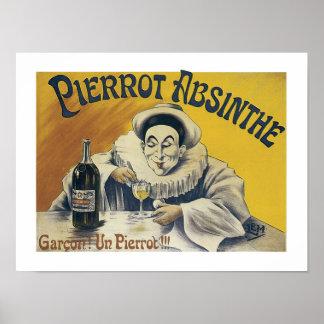 Pierrot Absinthe Poster