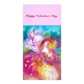 PIERROT AND ARLECCHINA Valentine's Day Music Card