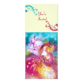 PIERROT AND ARLECCHINA Venetian Carnival, Card