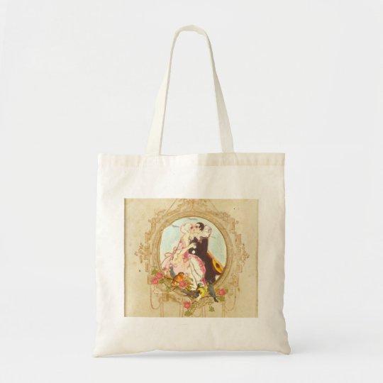 Pierrot and Columbine Tote Bag