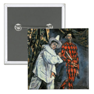 Pierrot and Harlequin , 1888 Button