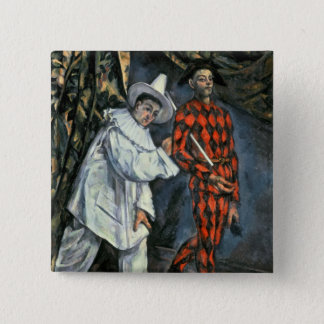 Pierrot and Harlequin , 1888 Pinback Button