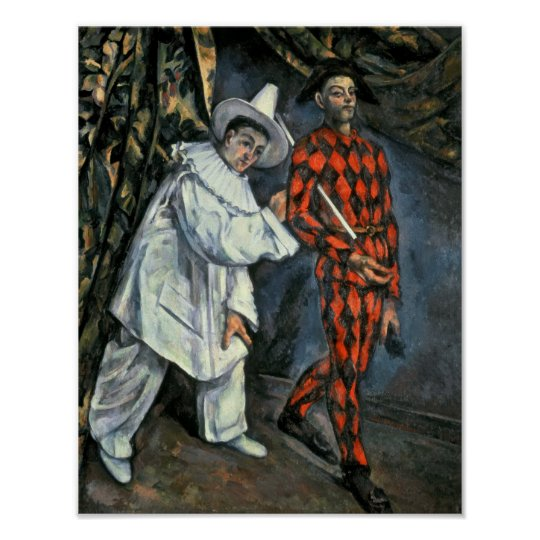 Pierrot and Harlequin , 1888 Poster
