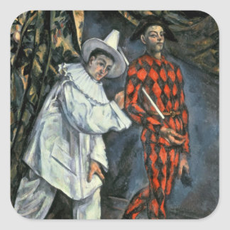 Pierrot and Harlequin , 1888 Square Sticker