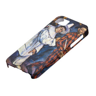 Pierrot and Harlequin by Cezanne, Vintage Art iPhone 5 Cover