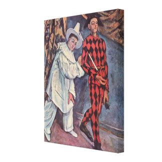 Pierrot and Harlequin Canvas Print
