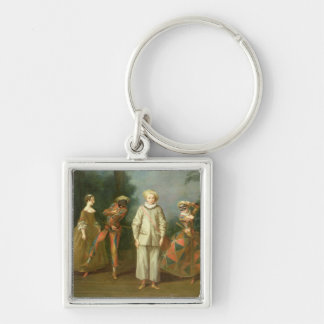 Pierrot and Harlequin Keychains