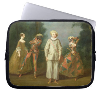 Pierrot and Harlequin Laptop Sleeve
