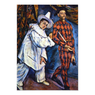 Pierrot and Harlequin, Mardi Gras by Paul Cezanne Card