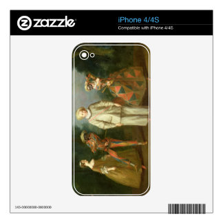 Pierrot and Harlequin Skin For The iPhone 4S