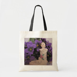 Pierrot and violets budget tote Bag