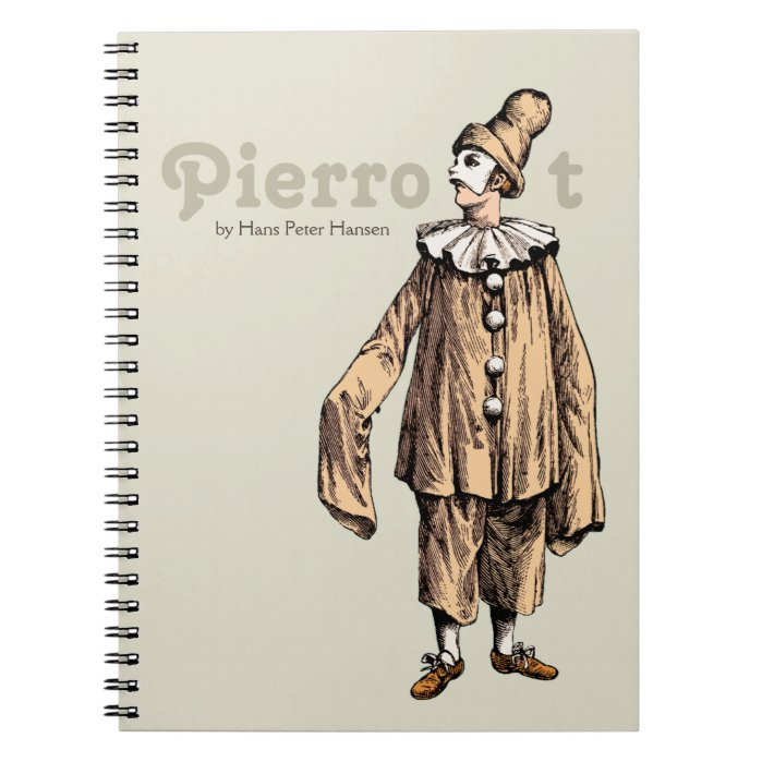 Pierrot by Hans Peter Hansen CC0199 Spiral Notebook
