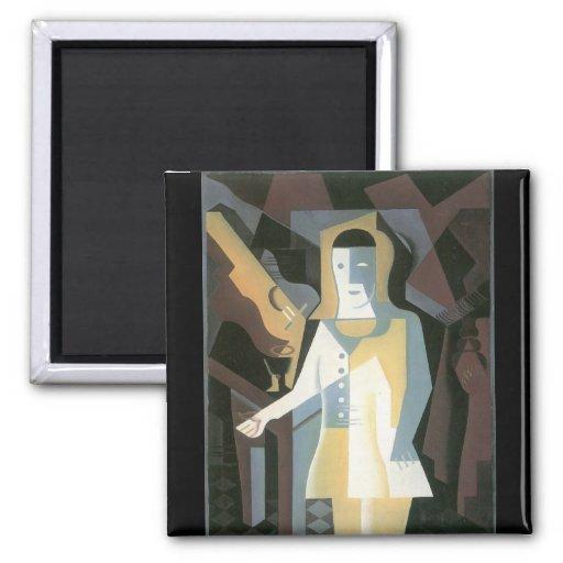 Pierrot by Juan Gris Refrigerator Magnet