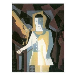 Pierrot by Juan Gris Postcard