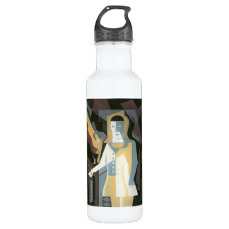 Pierrot by Juan Gris Water Bottle