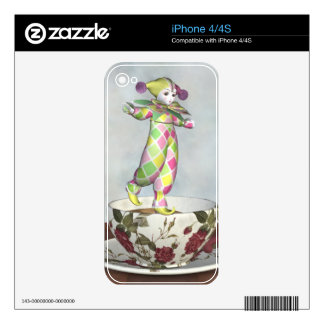 Pierrot Clown Doll Balancing on a Tea Cup iPhone 4S Decals