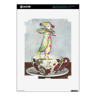 Pierrot Clown Doll Balancing on a Tea Cup Skin For iPad 3