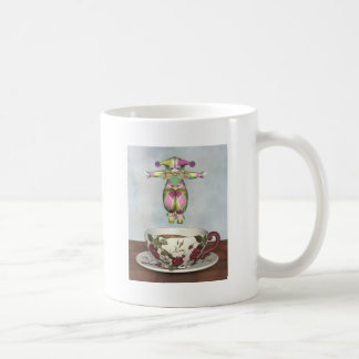 Pierrot Clown Doll Jumping into a Tea Cup Classic White Coffee Mug