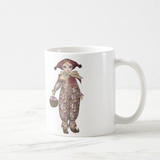 Pierrot Clown Doll with Easter Eggs Coffee Mug