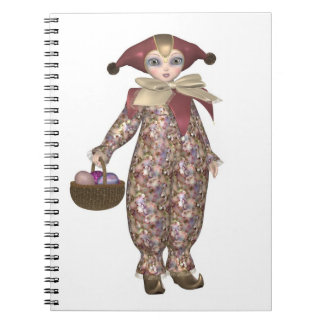Pierrot Clown Doll with Easter Eggs Notebook