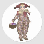 Pierrot Clown Doll with Easter Eggs Sticker