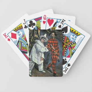 Pierrot et harlequin, 1888 bicycle playing cards