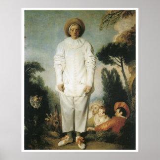 Pierrot: Gilles, 1721 Jean-Antoine Watteau Poster