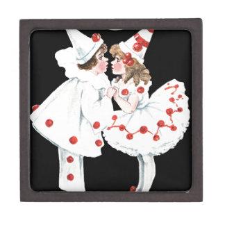 Pierrot Kids Children Clown Couple Jewelry Box