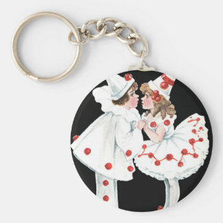 Pierrot Kids Children Clown Couple Keychain