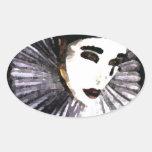 Pierrot Pegatina Ovalada