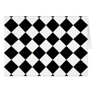 Pierrot plaid black and white card