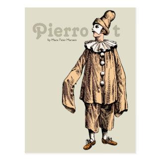 Pierrot por la postal de Hans Peter Hansen CC0733