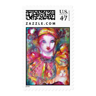 PIERROT WITH CAT 2 POSTAGE