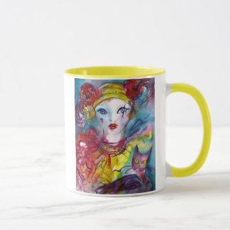 PIERROT WITH CAT / Venetian Masquerade Masks Mug