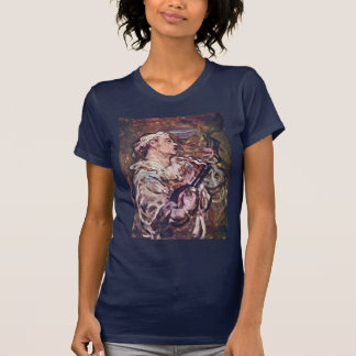 Pierrot With Guitar By Daumier Honoré T Shirt