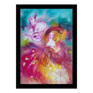 Pierrot y Arlecchina Póster