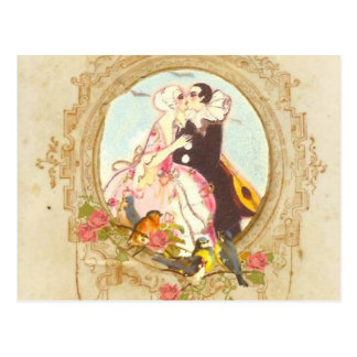 Pierrot y Columbine Tarjetas Postales