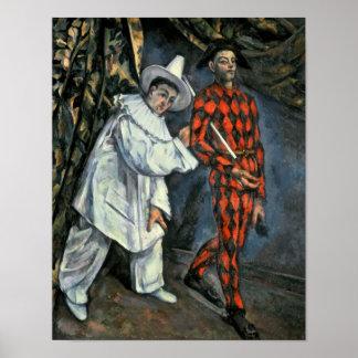 Pierrot y Harlequin, 1888 Impresiones