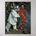 Pierrot y Harlequin, 1888 Póster