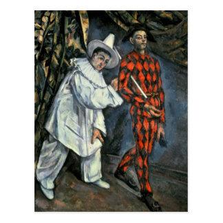 Pierrot y Harlequin, 1888 Tarjetas Postales