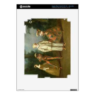 Pierrot y Harlequin iPad 3 Pegatinas Skins