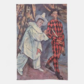 Pierrot y Harlequin Toalla