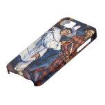 Pierrot y Harlequin por Cezanne, arte del vintage iPhone 5 Case-Mate Protectores